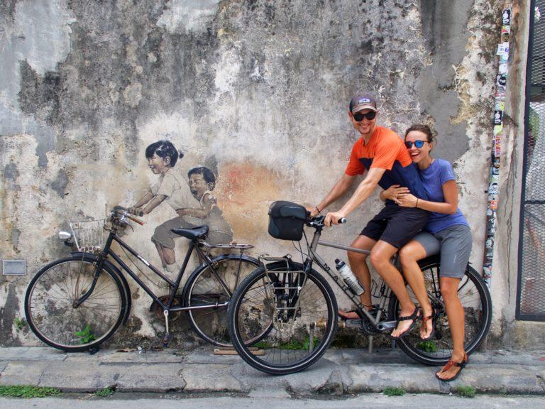 Znany w Penang street art i my